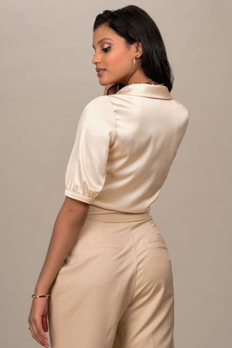 back_Look Of Luxe {Color} Short Sleeve Top