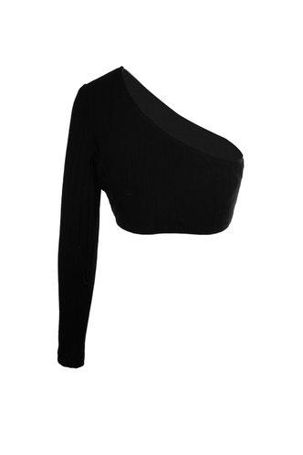 back_Cold Shoulder {color} Crop Top