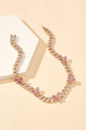 back_Fanny Elizabeth Gold Butterfly Charm Necklace
