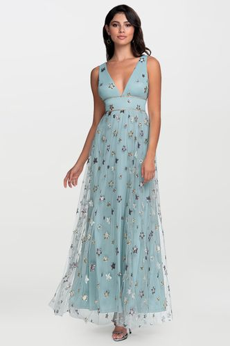 front_Kiss Of Stars {Color} Embroidery Maxi Dress
