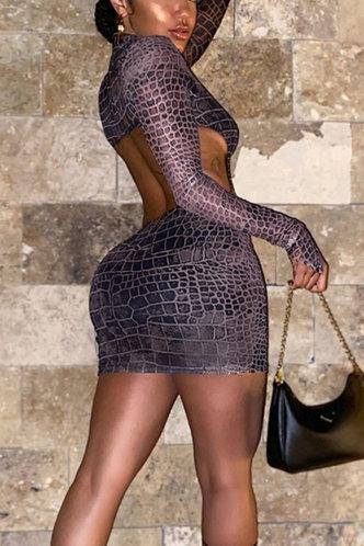 front_Alfy Eden Snakeskin Print Bodycon Dress