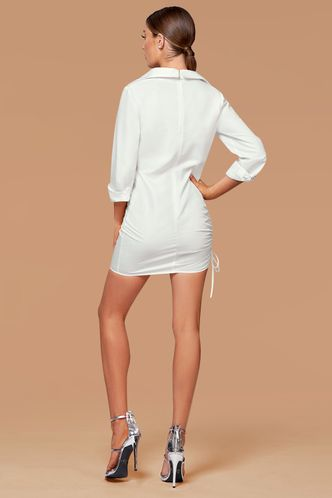 back_New Wonder White Mini Shirt Dress