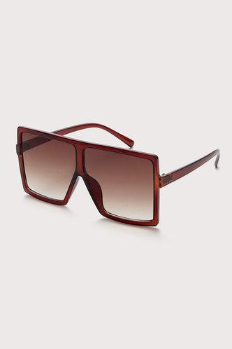 back_Summer Elizabeth Brown Square Frame Sunglasses