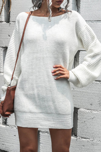 back_Napkin White Sweater Dress