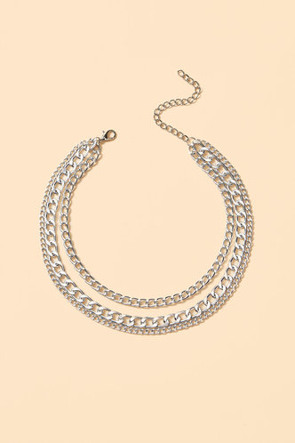 back_Laurel Eileen Silver Layered Chain Necklace