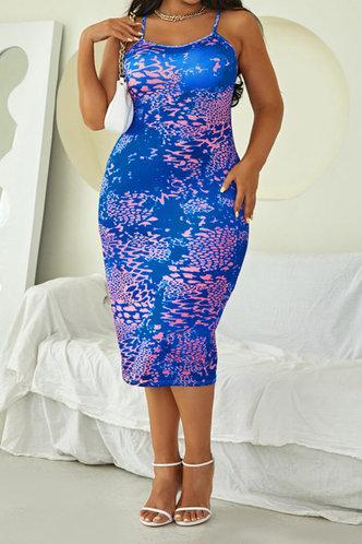 front_Dawn Oktoped Purple Leopard Print Plus Halter Open Back Bodycon Dress