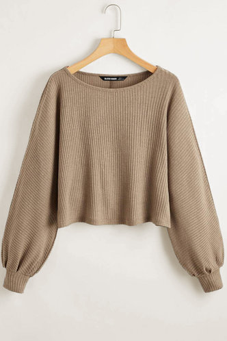 front_Ailey Gold and Teal Coffee Brown Sweater