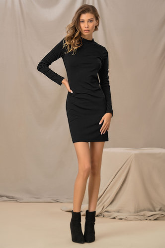 front_Annabelle Edwina Black Bodycon Dress