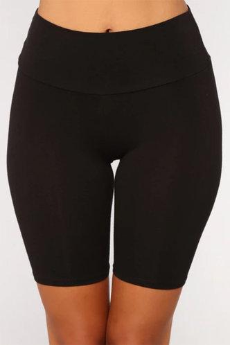 front_Agatha Elizabeth Black Biker Shorts