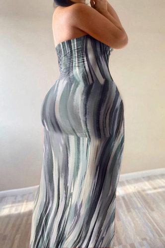 front_Gustave Enid Grey Tie Dye Plus Bodycon Tube Dress