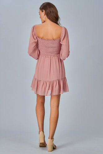 back_True Romance Dusty Rose Mini Dress