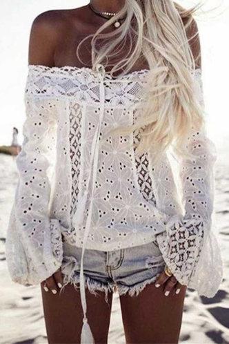 front_Sherry Elma White Blouse