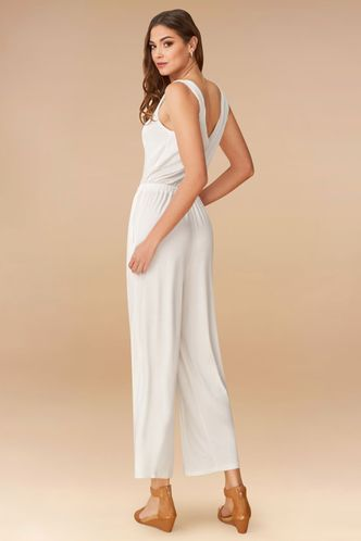 back_Never Alone White Jumpsuit