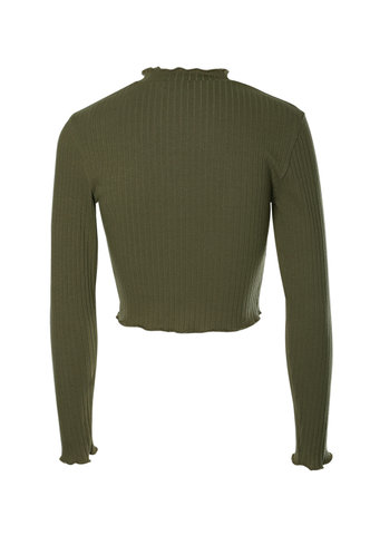 back_Cross Country Army Green Crop Top