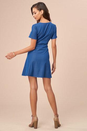 back_In A Daze Indigo Mini Dress
