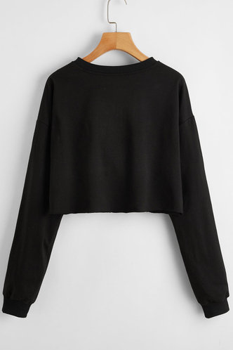 back_Makayla Black Sweatshirt