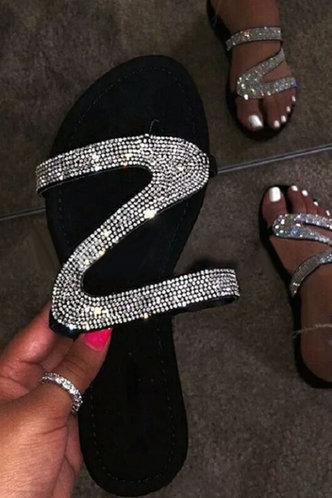 front_Hilary Emma Black Slide Sandals