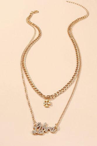 back_Nancy Enid Gold Rhinestone Charm Necklace