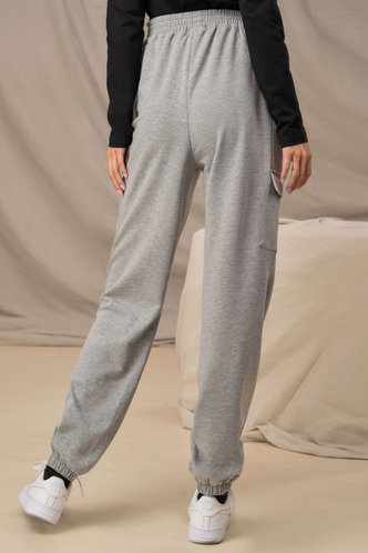 back_Team Player Grey Cargo Joggers