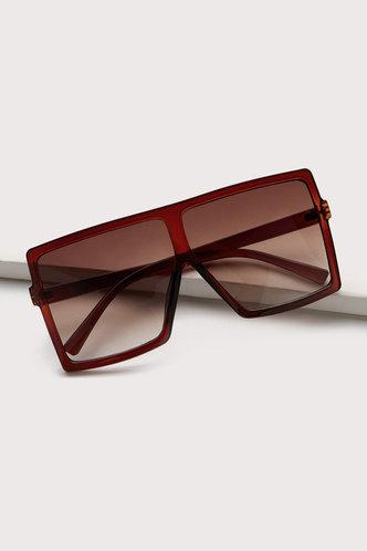 front_Summer Elizabeth Brown Square Frame Sunglasses