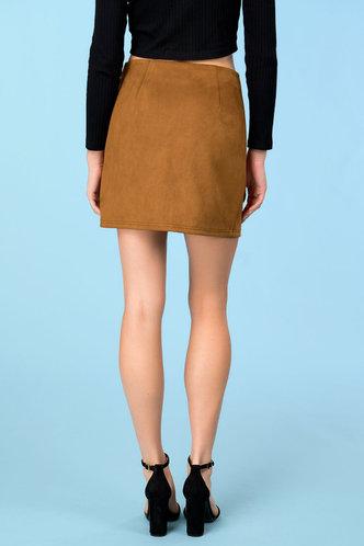 back_Going Retro Brown Skirt