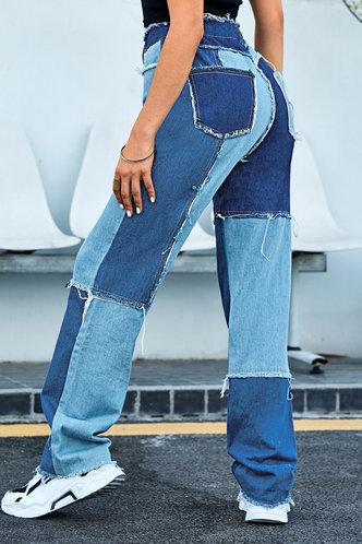 back_Regina Eartha Colorblock Straight Leg Jeans
