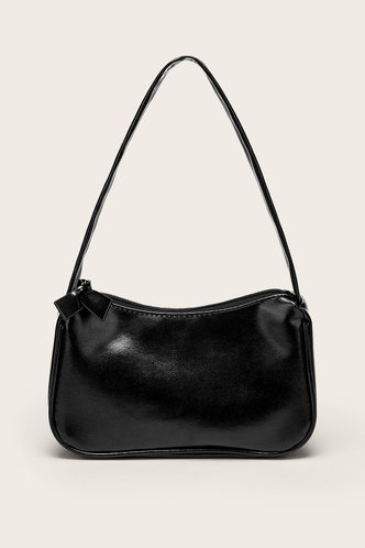 front_Christine Eartha Black Shoulder Bag