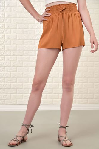 front_Gingersnap Rust Red Shorts