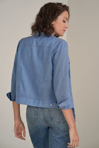 back_Who We Are Blue Chambray Shirt Jacket