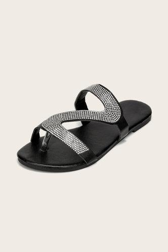back_Hilary Emma Black Slide Sandals