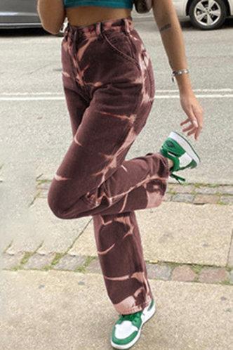 back_Catherine Emma Brown Tie Dye Jeans