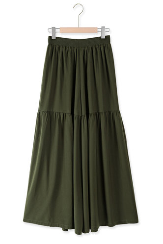 front_Nomad Army Green Wide Leg Pants