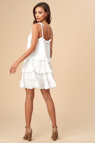 back_Sunshine Ivory Mini Dress