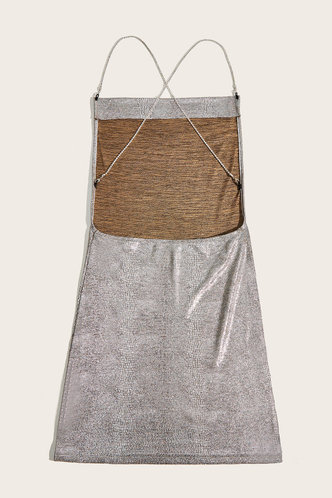 back_Melba Silver Open Back Dress