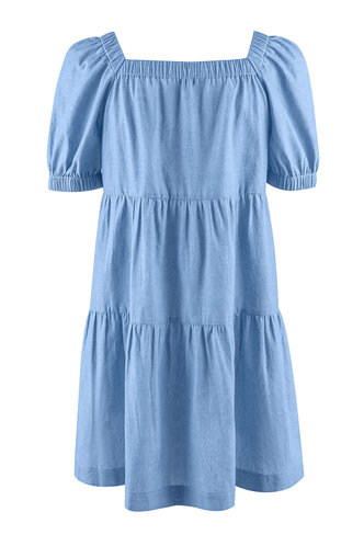 back_Butterfly Effect Denim Blue Mini Dress