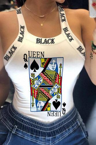 front_Violet Elaine White Poker Pint Tank Top