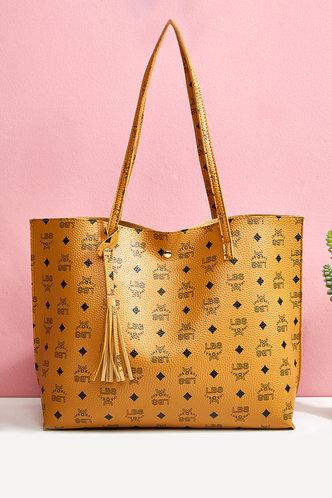 front_Eudora Lamris Brown Tote Bag