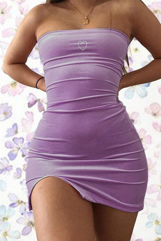 front_Eulalia Elma Purple Bodycon Tube Dress