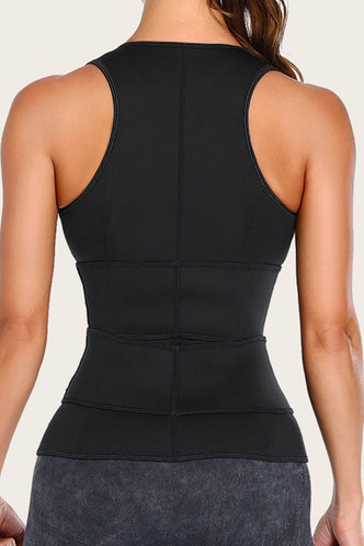 back_Wendy Eleanore Black Zipper Front Waist Trainer