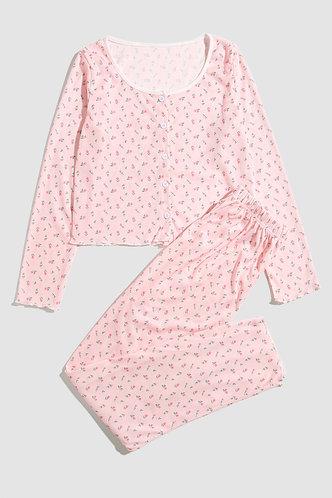 back_Elaine Baby Pink PJ Set