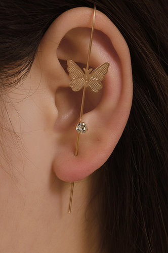 front_Butterfly Gold Earring