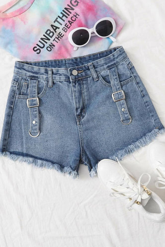 front_Annot Blue Shorts
