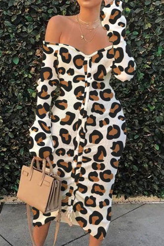 back_Ann Eve Leopard Print Plus Off Shoulder Drawstring Dress