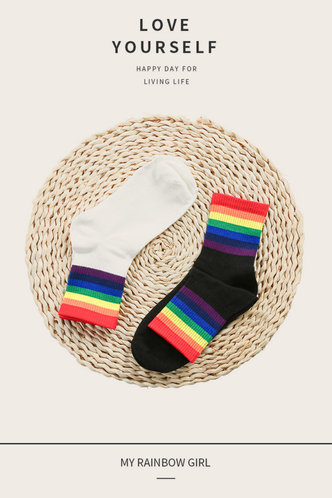 front_Elma Oktoped Black And White Socks 2pairs