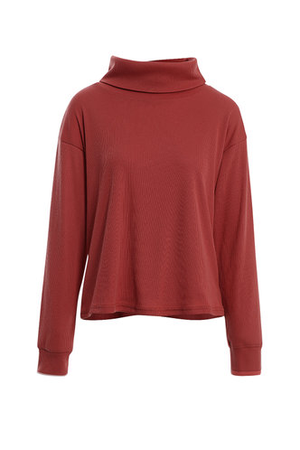 front_Made You Blush Rusty Rose Knit Pullover
