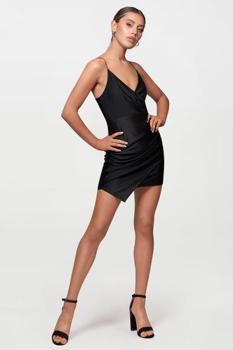 front_Dare To Dream Black Mini Dress