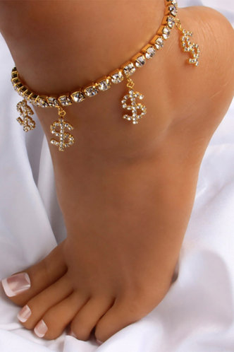 front_Lucilla Esther Gold Anklet Chain