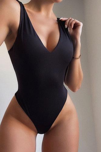 front_Hedy Maksipes Black Bodysuit