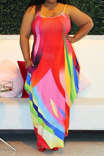 back_Gladys Marsaus Rainbow Plus Cami Dress