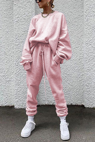 front_Snugly Style Pink Sweat Set